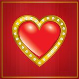 Saint Valentine's Day. Precious heart Stock Photos