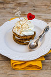 Saint Valentine's Day Carrot Cake Royalty Free Stock Photo