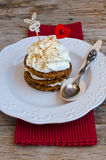 Saint Valentine's Day Carrot Cake Stock Image