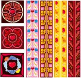 Saint valentine's day decorative patterns Royalty Free Stock Photo