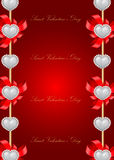 Saint Valentine's Day greeting card Stock Photo