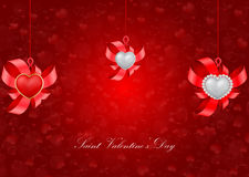 Saint Valentine's Day greeting card Royalty Free Stock Photography