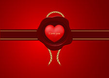 Saint Valentine's Day greeting card Royalty Free Stock Image