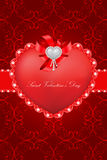 Saint Valentine's Day greeting card Royalty Free Stock Photos