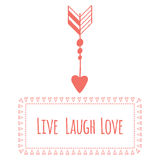 Saint Valentine's day greeting card. Live laugh Royalty Free Stock Image