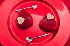 Saint Valentine's day ice cream Royalty Free Stock Photo