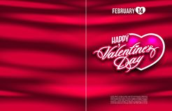 Saint Valentine s day postcard flyer poster banner Stock Images