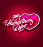 Saint Valentine s day postcard flyer poster banner Royalty Free Stock Photos