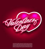 Saint Valentine s day postcard flyer poster banner Stock Photo