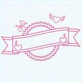 Saint Valentine's Day ribbon Royalty Free Stock Photo