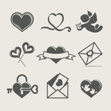 Saint valentine\\\'s day set icon Royalty Free Stock Photos