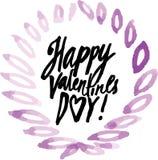 Saint Valentine's Day. Vector handwritten calligraphy sign - Saint Valentine's Day Royalty Free Stock Photography