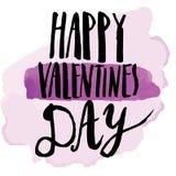 Saint Valentine's Day. Vector handwritten calligraphy sign - Saint Valentine's Day Stock Photos