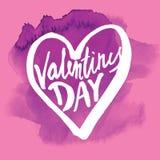 Saint Valentine's Day. Vector handwritten calligraphy sign - Saint Valentine's Day Stock Photography