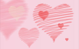 Saint Valentine's hearts. Pink hearts. Suitable for any Saint Valentine's image or love message Royalty Free Stock Image