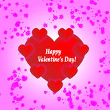 Saint Valentines Card. With hearts Stock Photos