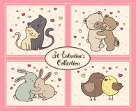 Saint Valentines Collection Royalty Free Stock Photo