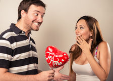 Saint Valentines couple Royalty Free Stock Image