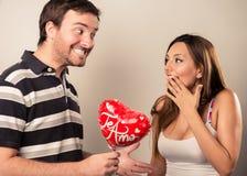 Saint Valentines couple Royalty Free Stock Image