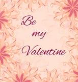 Saint Valentines day card. Royalty Free Stock Photos