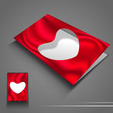 Saint Valentines Day flyer or banner with blank paper heart. EPS Stock Photo