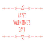 Saint Valentines day greeting card. Happy Royalty Free Stock Image