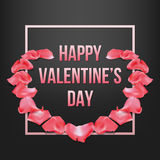 Saint Valentines day greeting card. Royalty Free Stock Image