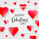 Saint Valentines day greeting card. Stock Photos