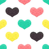 Saint Valentines day seamless pattern. Background with hearts. Stock Photos