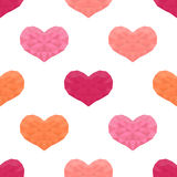 Saint Valentines day seamless pattern. Background with hearts. Royalty Free Stock Photography