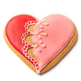 Saint Valentines Gingerbread - Stock Photo Royalty Free Stock Photo