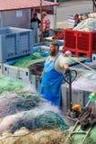 Saint-Valery-en-Caux Fishing Port Royalty Free Stock Photography