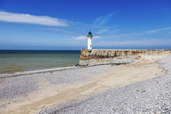 Saint-Valery-en-Caux Lighthouse Stock Photos