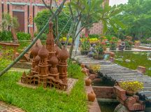 Saint Vasili Blajeni cathedral Moscow replica clay artwork Vietnam Hoi An Terracotta Park. Saint Vasili Blajeni cathedral Moscow replica clay artwork from Stock Photos