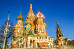 Saint Vasily Blessed Cathedral in Moscow Stock Photos