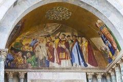 saint venice för basilicafrescoesitaly fläck Arkivfoto