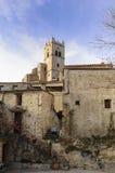 Saint-Vicent-d'En-Haut d'Eus Church, Languedoc Roussillon, Stock Images