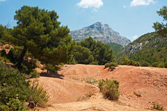 Saint Victoire mountain in France Stock Photography