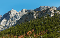 Saint Victoire mountain near Aix en Provence Stock Image