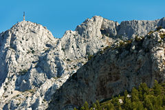 Saint Victoire mountain near Aix en Provence Royalty Free Stock Photo