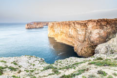 Saint Vincent cape, view of the atlantic ocean coast Royalty Free Stock Images