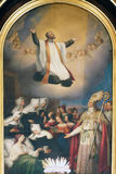 Saint Vincent de Paul. St. Vincent de Paul altarpiece in the Church of St. Vincent de Paul in Zagreb, Croatia Royalty Free Stock Photo