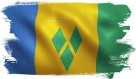 Saint Vincent Flag Stock Images