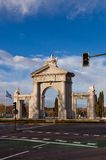 Saint Vincent Gates (La Puerta de San Vicente). Madrin, Spain Royalty Free Stock Photography