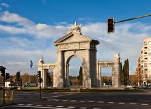 Saint Vincent Gates (La Puerta de San Vicente). Madrin, Spain Royalty Free Stock Image