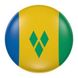 Saint Vincent and the Grenadines button Stock Images