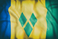 Saint Vincent and the Grenadines flag waving Stock Images