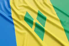 Saint Vincent and the Grenadines flag Royalty Free Stock Photo