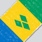 Saint Vincent and the Grenadines grunge flag. Vector illustration. Royalty Free Stock Photography