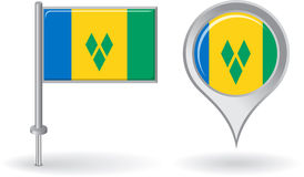 Saint Vincent and the Grenadines pin icon, map Royalty Free Stock Photos